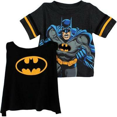 Batman Toddler Boys S/S T-Shirt & Cape Size 2T 3T 4T