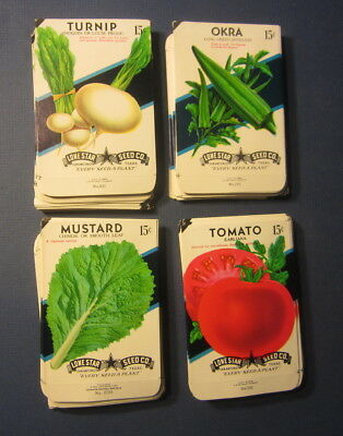 Wholesale Lot of 200 Old Vintage Vegetable SEED PACKETS - 15 cent - EMPTY - 4B