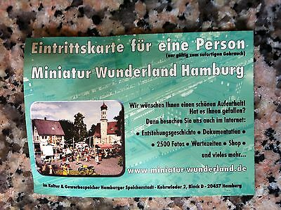 miniatur wunderland hamburg eintrittskarten 2 st ck. Black Bedroom Furniture Sets. Home Design Ideas