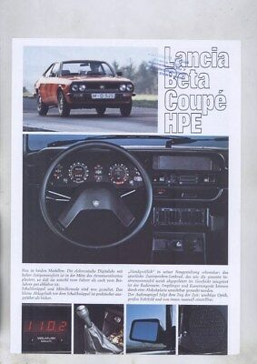 1974 ? Lancia Beta Coupe HPE Roadtest Brochure German wy8695
