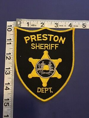Preston  County  West Virginia Sheriff  Shoulder Patch
