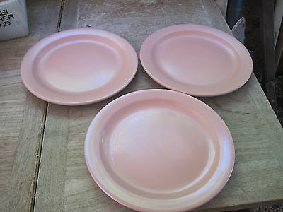 BOONTON (NJ) Dinnerware, COUNTRY MAUVE, Made in 1950's?, 3pcs., Used Cond.