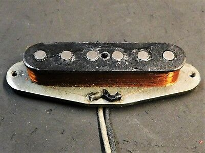 1965 Fender Original 60's Mustang NECK PICKUP & SCREWS Vintage Electric Guitar