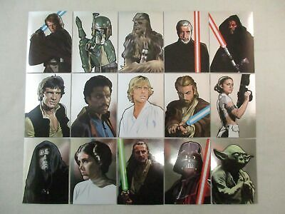 Complete Set of 15 Foil Art Cards STAR WARS GALAXY SERIES 5 Topps 2010
