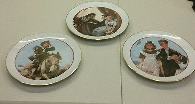 1982 Norman Rockwell plates set of 3 Young Love Series Japan CW Collection decor