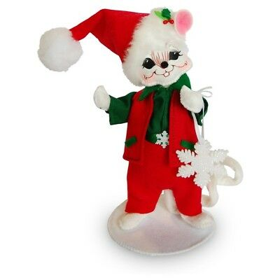 "Annalee 2016 Christmas 6"" SNOWFLAKE BOY MOUSE Collectible Poseable Doll 601016"