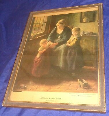 SE848 Vtg Dressing Little Sister Bernhard Pothast Repro Print 1942 Mead Johnson