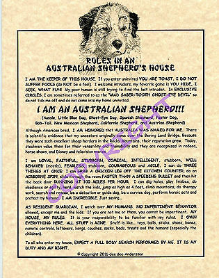 Rules In An Australian Shepherd's House