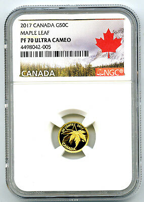 2017 Canada G50C Gold Maple Leaf Ngc Pf70 Ucam 1/25 Oz .9999 Proof Rcm Sold Out