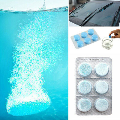 6 pcs Car Vehicle Windshield Glass Window Cleaning Compact Solid Wiper Cleaner