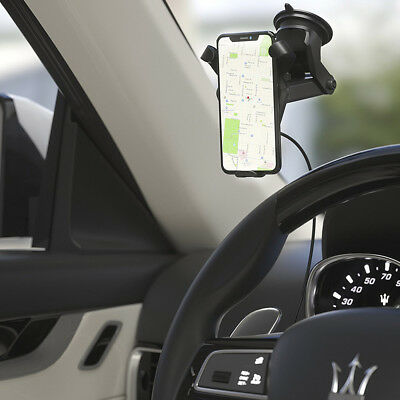 USA Qi Wireless Fast Car Charger Phone Stand Mount Holder For iPhone 8 Plus X