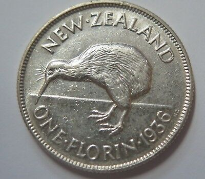 New Zealand 1936 George VI Silver Florin