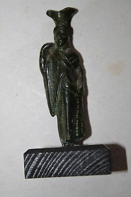 QUALITY ANCIENT ROMAN/EGYPTIAN BRONZE ISIS FIGURE 1st century BC/AD