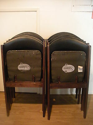 Stakmore 8 Folding Chairs ( License No. N.y. 1598 ) Made By Stakmore Co.