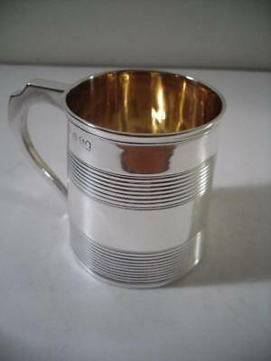 An Antique George III Silver Mug With Gilded Interior : London 1789