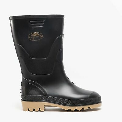 Kids Junior Boys Girls Waterproof Winter Rain Wellington Wellies Boots Black