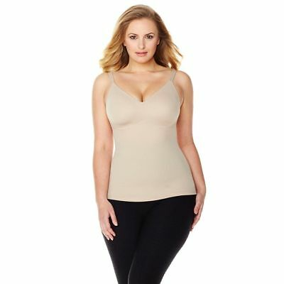 Rhonda Shear Everyday Molded Cup Camisole Adjustable Stretch Nude 3X NEW 406-902