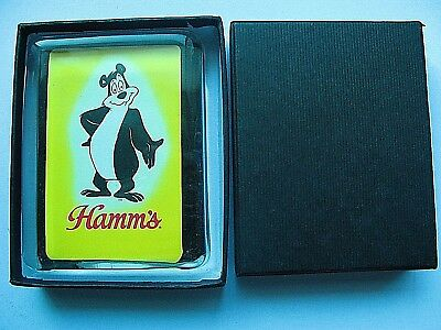 Hamms Beer Bear Logo Glass Paperweight  New in Gift Box