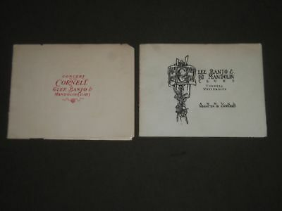1903 Cornell University Glee-Banjo & Mandolin Clubs Program Lot Of 2 - J 2352