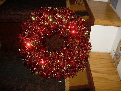 """Set Of 3 Red & Gold Mylar Xmas Wreaths--11"""" Across--#r23"""