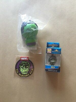 Funko The Hulk Patch, Pocket Pop, Stress Ball marvell collector corps exclusive