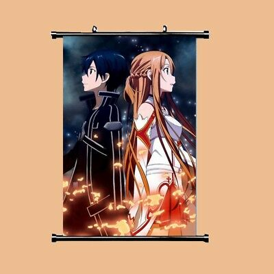 Wall Poster HOT Anime SAO Sword Art Online Jasna Tung Scroll Home Decor Cosplay