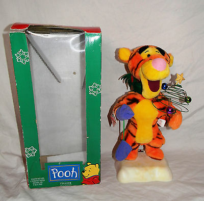 Animated Christmas Tigger from Winnie The Pooh Original Telco