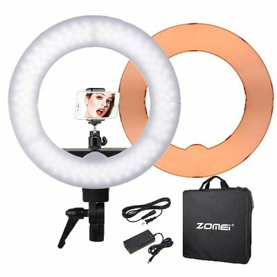 ZOMEI 55W 5500K Diva Ring Light w/ 90cm Stand for Make Up Video Photo Shooting