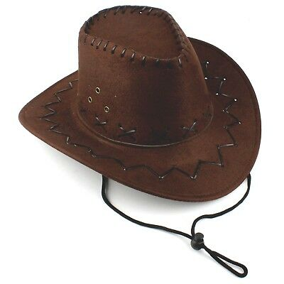 Child's Size Brown Outback Akubra Style Cowboy Hat Western Costume Party
