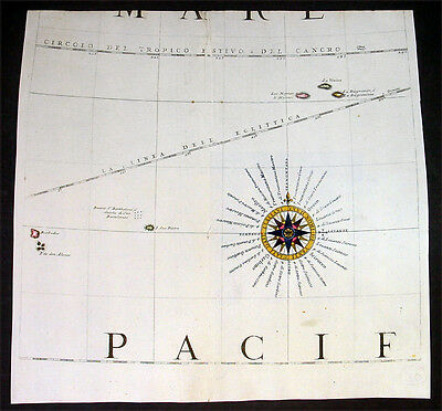1693 Coronelli Antique Globe Gore Part of Southern Pacific below New Zealand