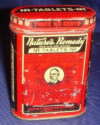ML161 Vtg Nature's Remedy Laxative Tin Can
