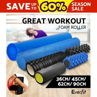 Everfit Foam Roller 36/62/90CM Yoga Physio Fitness Massage Home Gym EVA EPE