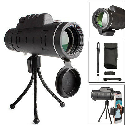 40X60 Telephoto Monocular Telescope Camera Lens +Holder + Tripod Stand For Phone