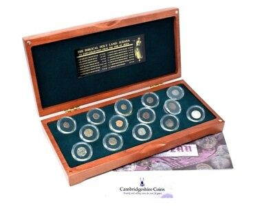 Judeah Gold Coin Collection in Wood Presentation Case 134 BC - 79 AD Very Scarce
