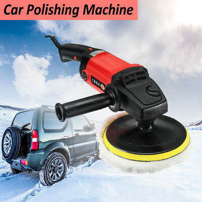 7'' Car Van Electric Polisher Buffer Sander Polishing Machine Kit 220v 1200w