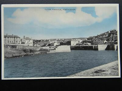 Cornwall PORTHLEVEN Outer Harbour - Old Postcard by E.T.W. Dennis