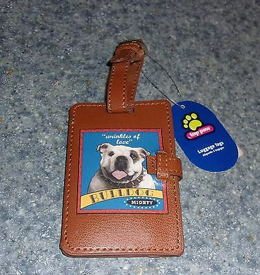 Brand New Top Paw BULLDOG Luggage Tag For Cocker Spaniel Rescue Charity