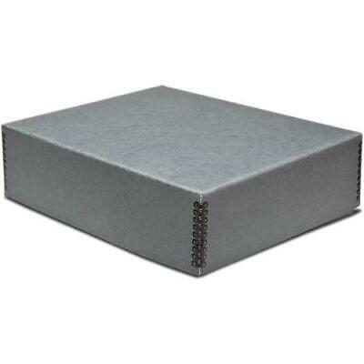 "Print File Drop-Front Metal Edge Archival Storage Box, 17.5x22.5x3"", Gray"