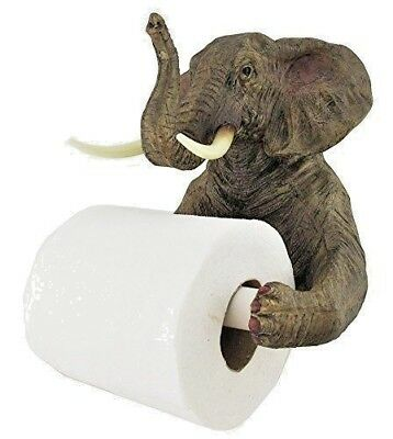Wall Mounted Elephant Toilet Roll Holder Novelty Loo Roll Holder Bathroom Decor