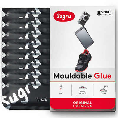 Sugru Moldable Glue Adhesive Black - 8 Pack New Uk For Home SBLK8