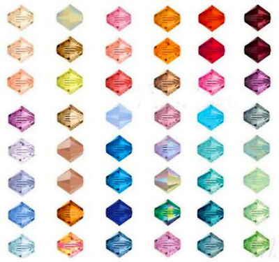 1000pcs AAA++ 4MM Gemstone Crystal Bicone Glass Beads Diy For Jewelry Making