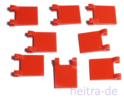 LEGO - 8 x Fahne / Flagge 2x2 mit 2 Clips rot / Red Flag / 2335 NEUWARE