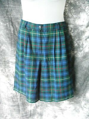 Vintage Pendleton Wool Smith Tartan Shorts Skort Modern Size Medium