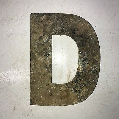 Vintage Marquee Theater Letter D Wagner Sign Service 8 Inch Antique D14