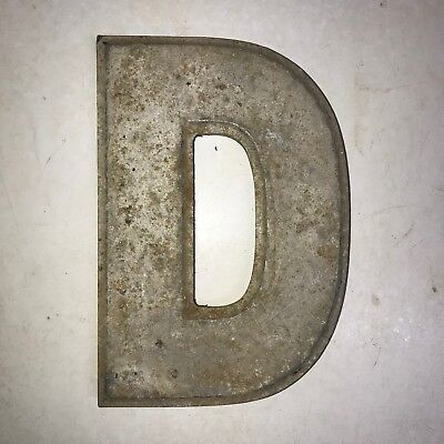 Vintage Marquee Theater Letter D Wagner Sign Service 8 Inch Antique D16