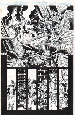 DAN JURGENS/ RAY McCARTHY 2011 GREEN ARROW VERSUS RUSH ORIG. INK ART-FREE SHIP!