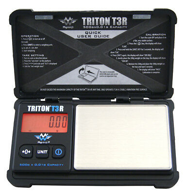 Feinwaage 500g / 0,01g MyWeigh Triton T3 500 Digitalwaage Taschenwaage Goldwaage