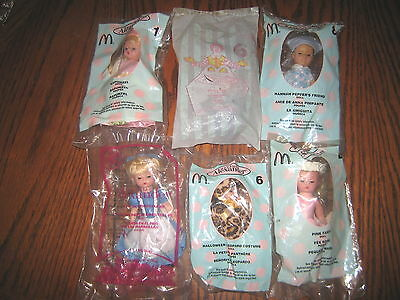 "6 Rare Htf Collectable Madame Alexander Dolls Lot Seal In Bags , "" Sold As Is """