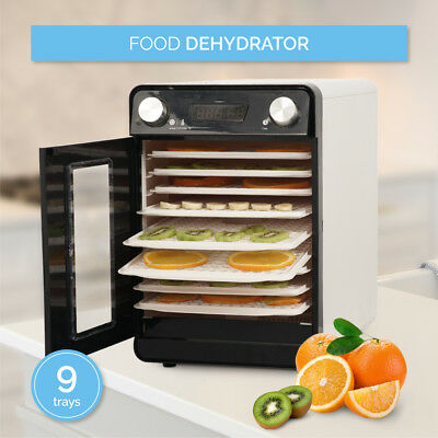 Commercial Food Fruit Jerky Drying Racks 9 Tray Dehydrator temperature, White
