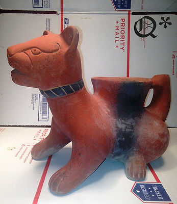 Pre Columbian Clay Pottery COLIMA DOG POT INAH MEXICO Ceremonial
